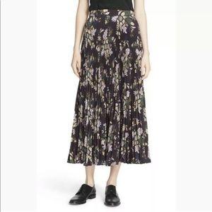 A.L.C. Williams Midi Floral Pleated Skirt 10 LRG